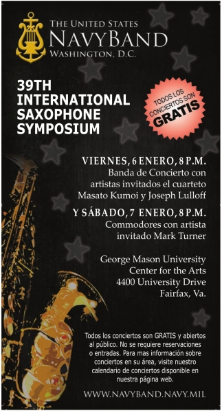 39th International Saxophone Symposium