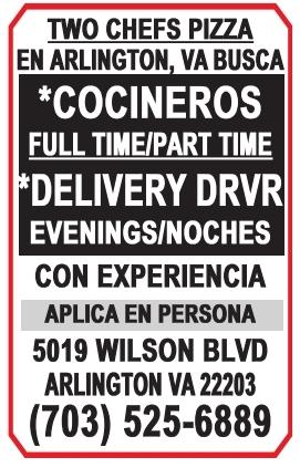 Cocineros / Delivery DRVR