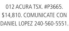 012 Acira TSX