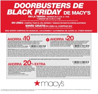 Doorbusters De Black Friday De Macy's