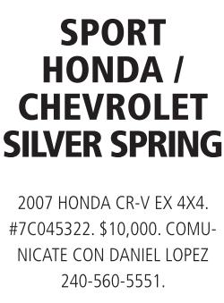 Sport Honda/ Chevrolet Silver Spring
