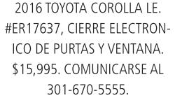 2016 Toyota Carolla Le.