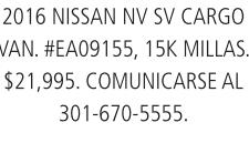 2016 Nissan Nv SV Cargo Van