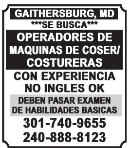 Operadores de Maquinas de Coser / Costureras