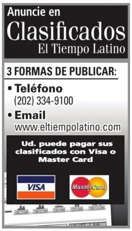 Clasificados El Tiempo Latino