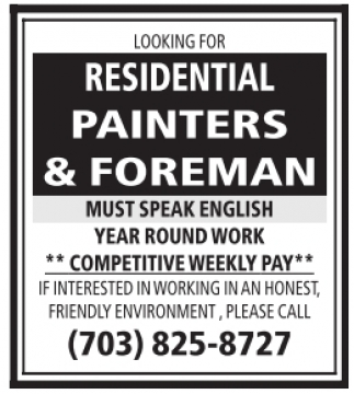 Residential Painters and Foreman
