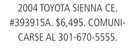 2004 Toyota Sienna CE.