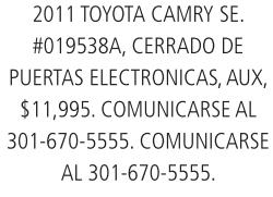 2011 Toyota Camry Se.