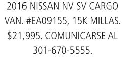 2016 Nissan NV SV Cargp