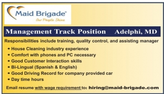 Management Track Position