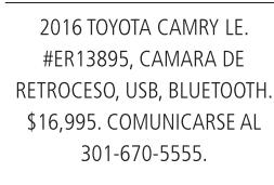 2016 Toyota Camary LE