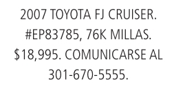 2006 Toyota  FJ Cruiser