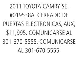 2011 Toyota Camary SE