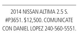 20014 Nissan Altamira