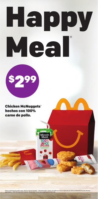 Happy Meal $2,99