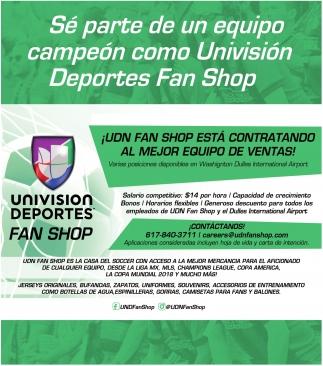Sé Parte De Un Equipo Campeón Como Univisión Deportes Fan Shop