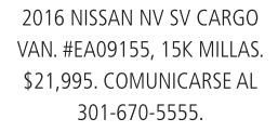 2016 Nissan NV SV