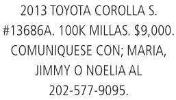 2013 Toyota Carolla S.