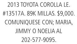 2013 Toyota Corolla LE.