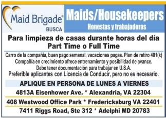 Maids/Housekeepers
