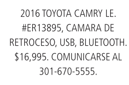 2006 Toyota Camry LE.