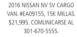 2016 Nissan NV SV Cargo Van.