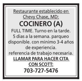 Cocinero (a)