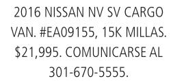 2016 Nissan NV SV CARGO