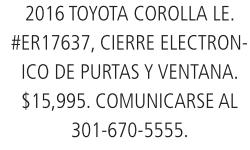 2016 Toyota Corolla Le.