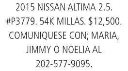 2015 Nissan Altima 2.5.