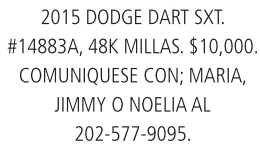2015 Dodge dart sxt.