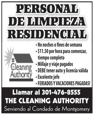 Se busca personal de limpieza