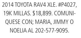 Toyota TAV4 XLE 2014