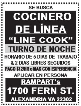 Cocinero de Linea