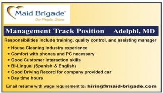 Management Track Position