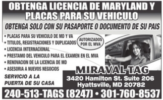 Obtenga Licencia de Maryland