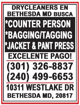 Counter Person, Bagging/Tagging and Jacket & Pant Press!