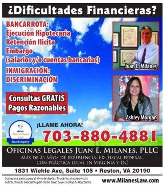 ¿Dificultades Financieras?