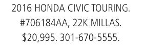 2016 HondaCivic Touring