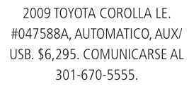 2009 Toyota Corolla LE