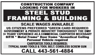 Steel Stud Framing And Building
