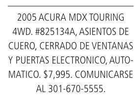 2005 Acura MDX Toura 4wd