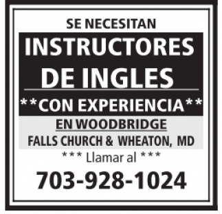 Instructores de Inglés