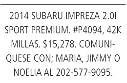 2014 Subaru Impreza 2.0l