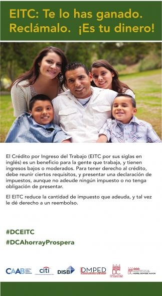 EITC: Te lo has ganado. Reclámalo. ¡Es tu dinero!
