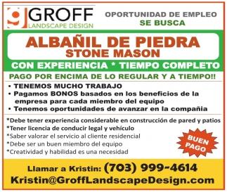 Albañil De Piedra