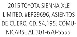 2015 Toyota Sienna Xle Limited
