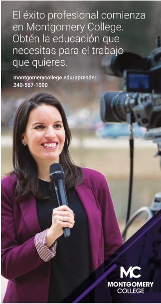 El éxito profesional comienza en Montgomery College