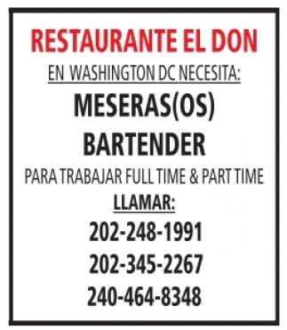 Meseras(os), Bartender
