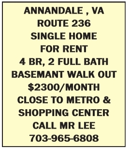 Single home for rent